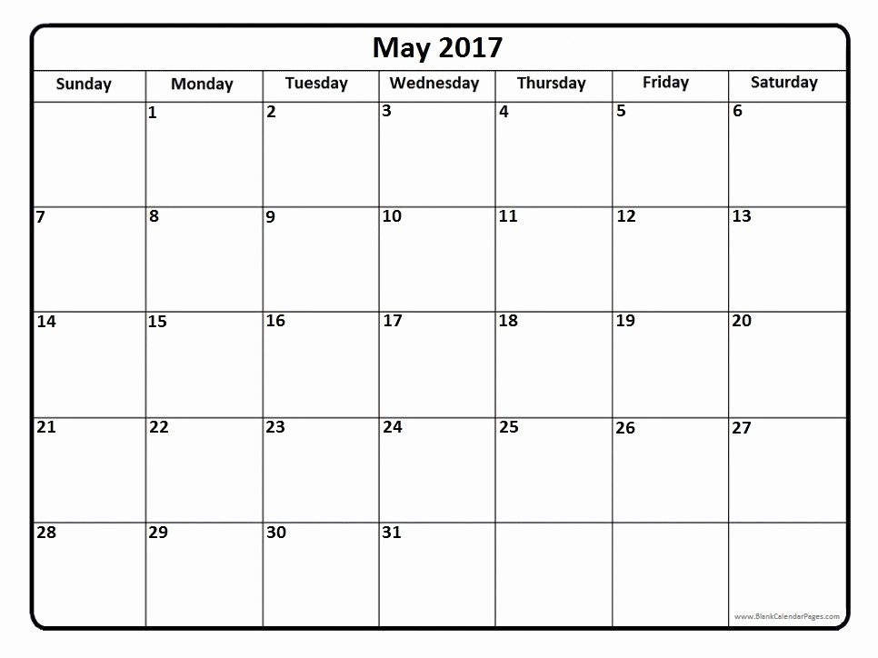 Calendar 2017 Template with Holidays Elegant May 2017 Calendar Printable with Holidays