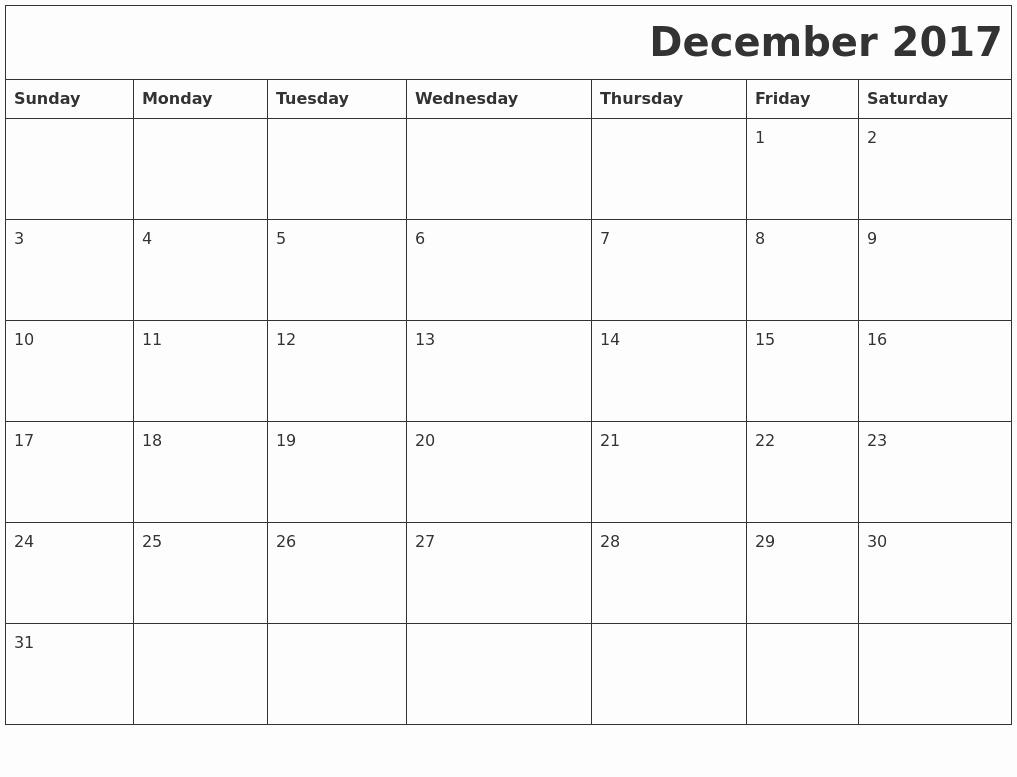 Calendar 2017 Template with Holidays Inspirational December 2017 Printable Calendar Template Holidays Excel