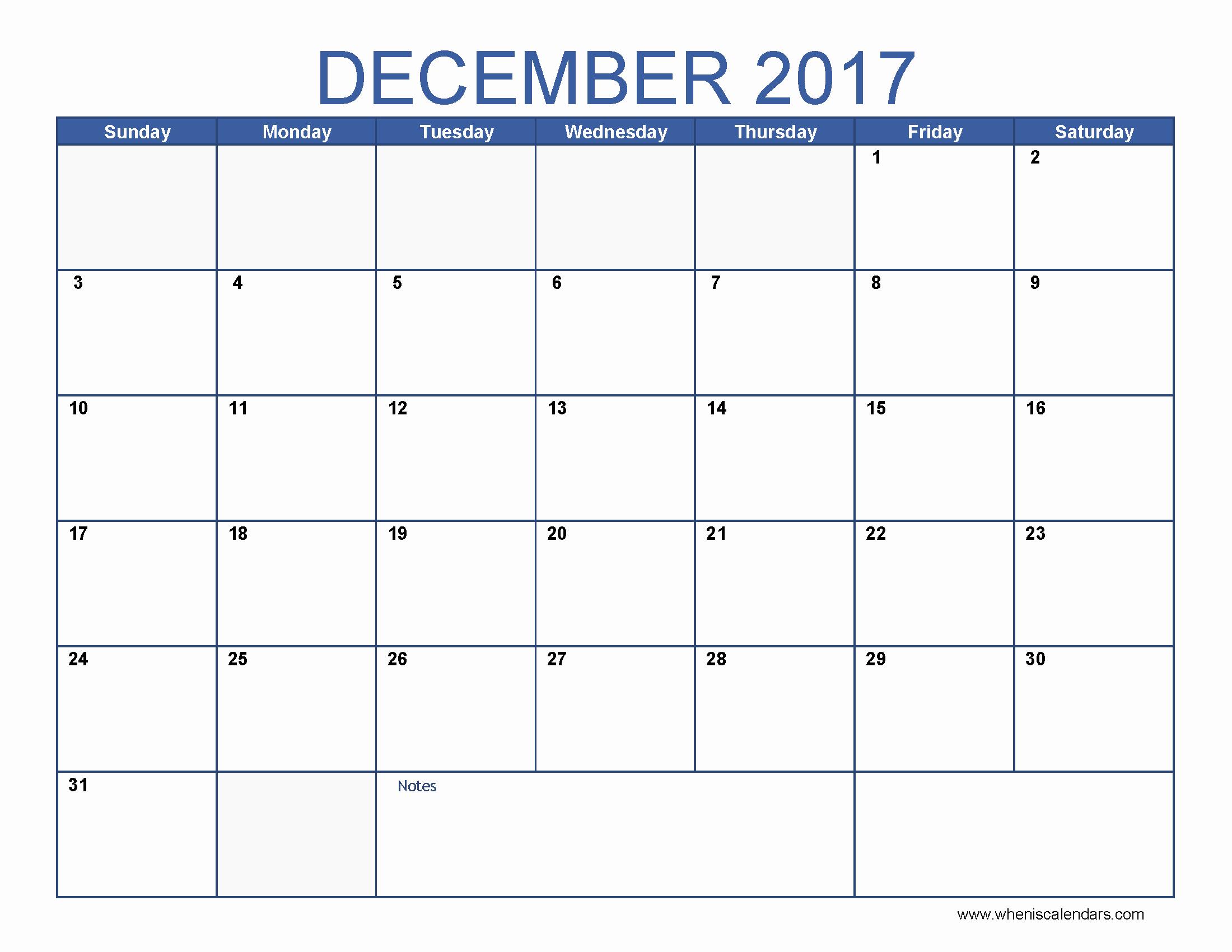 Calendar 2017 Template with Holidays New December 2017 Calendar Template