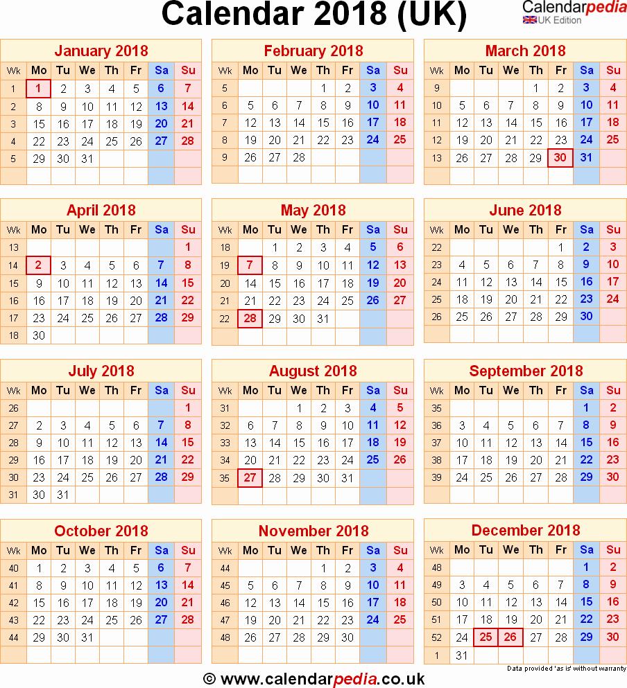 Calendar 2018 Printable with Holidays Elegant 2018 Printable Calendars with Holidays