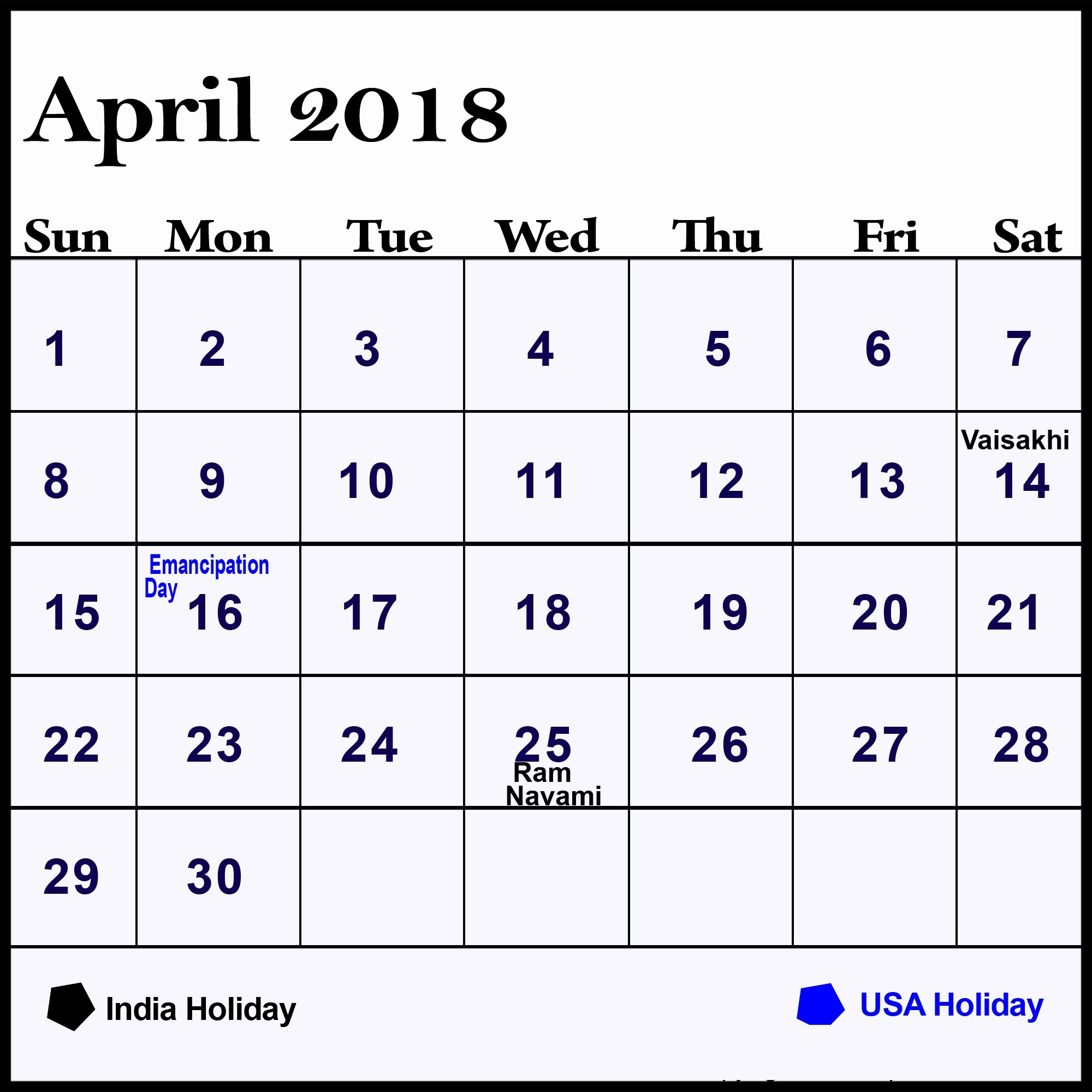 Calendar 2018 Printable with Holidays Luxury April 2018 Calendar Holidays February 2019 Calendar