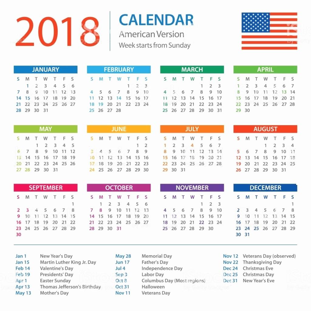Calendar 2018 Printable with Holidays Unique 2018 Holiday Calendar Usa & Uk