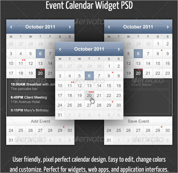 Calendar Of events Template 2015 Awesome event Calendar Templates 16 Free Download