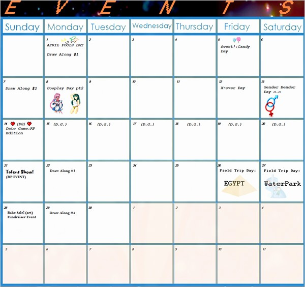 Calendar Of events Template 2015 Beautiful event Calendar Templates 16 Free Download