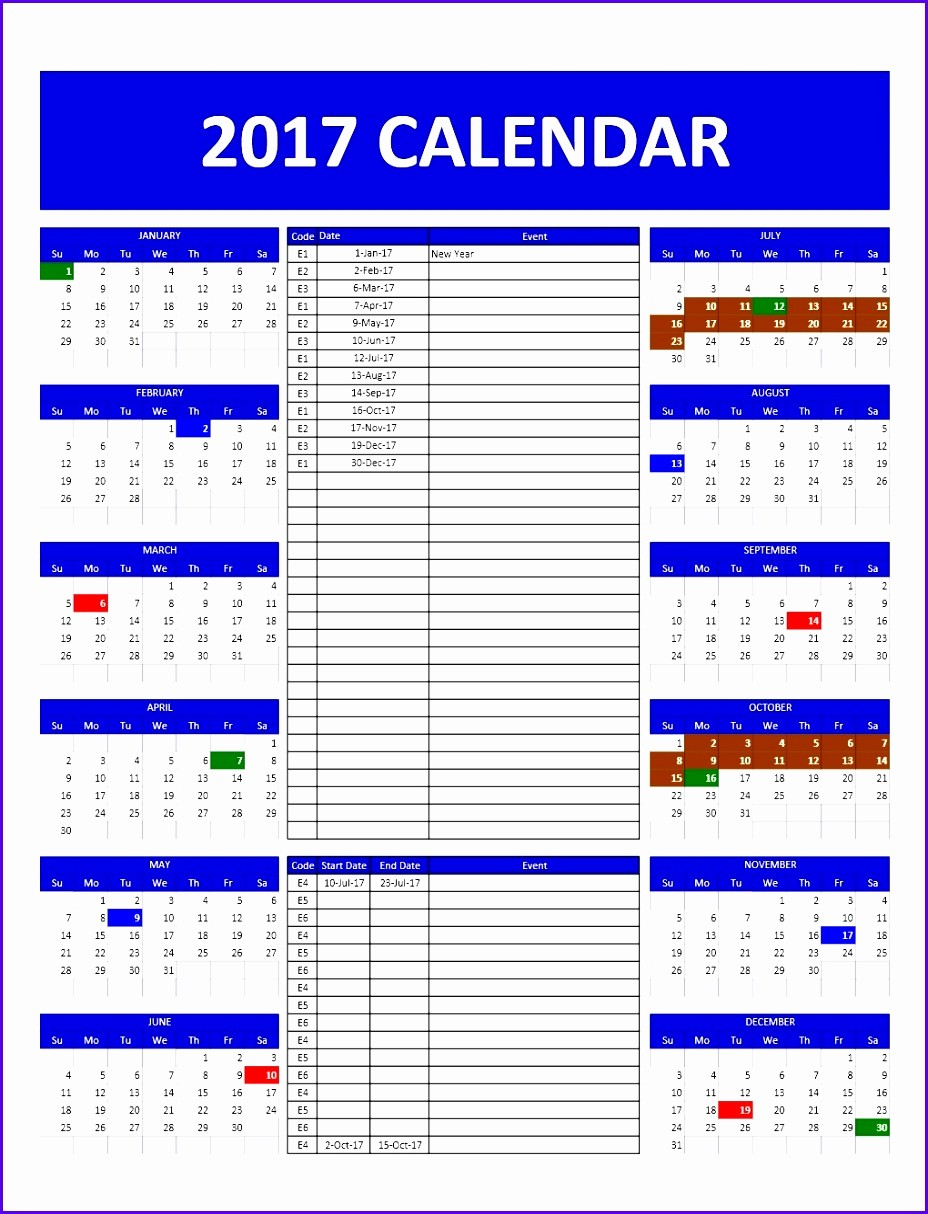 Calendar Of events Template 2015 Best Of 8 event Calendar Excel Template Exceltemplates