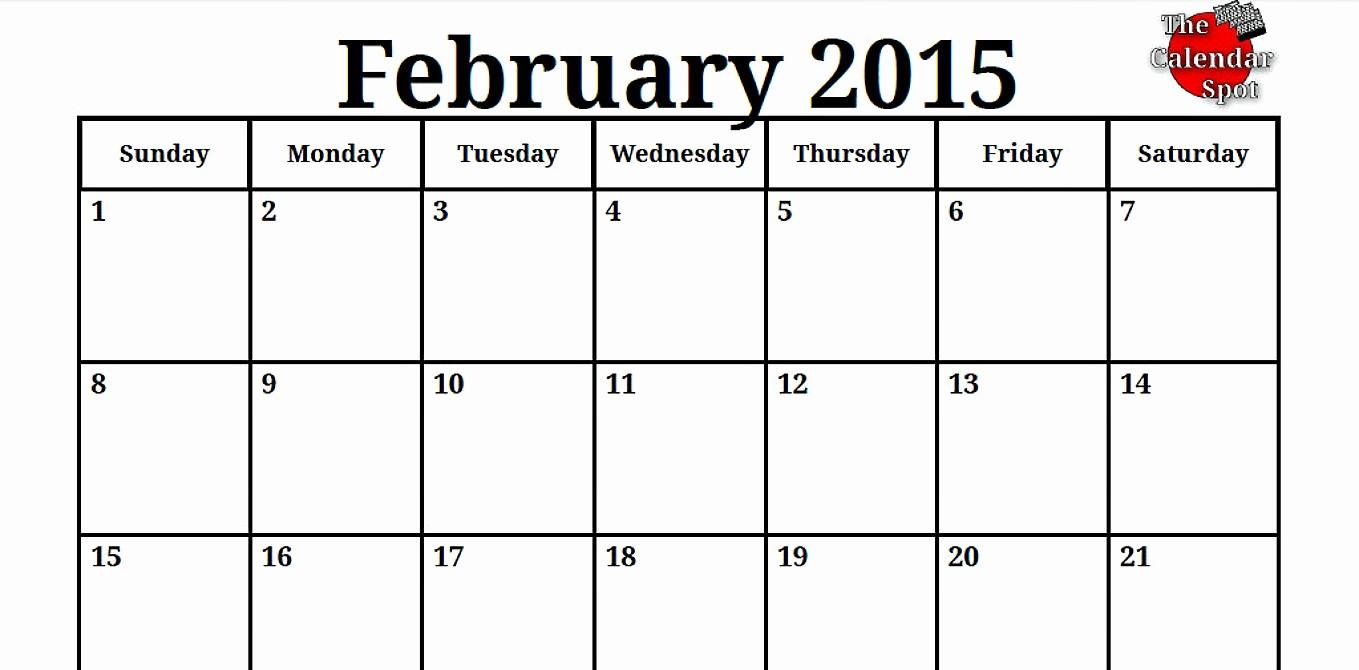 Calendar Of events Template 2015 Elegant February 2016 Calendar events – 2017 Printable Calendar