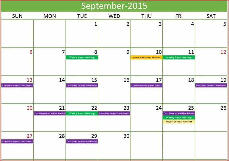 Calendar Of events Template 2015 Lovely event Calendar Maker Excel Template Monthly with