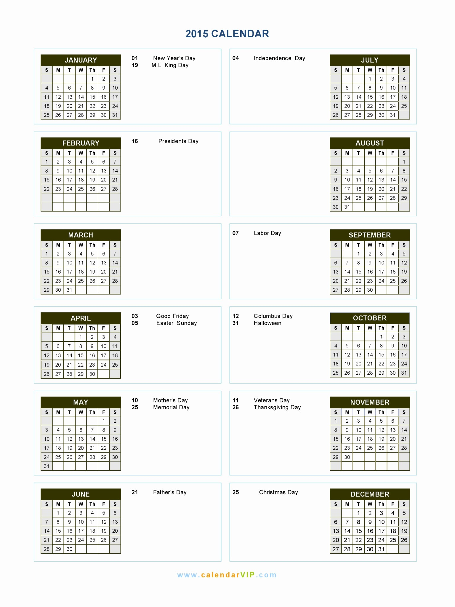 Calendar Of events Template 2015 Luxury 2015 Calendar Blank Printable Calendar Template In Pdf