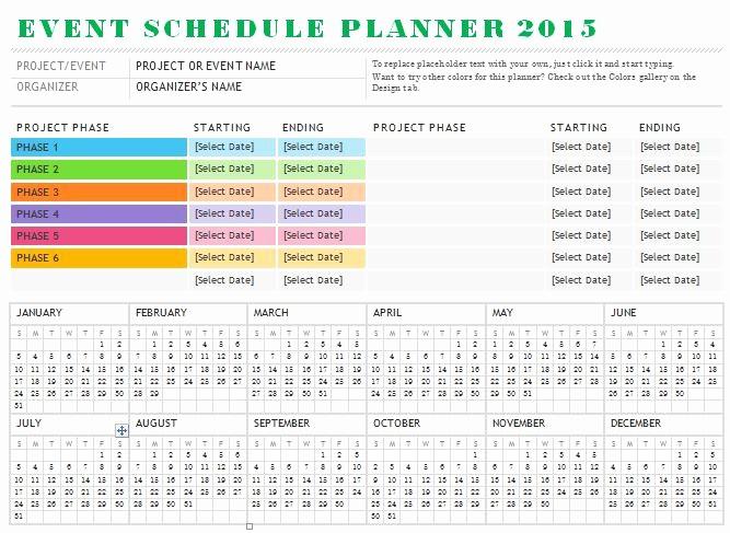 Calendar Of events Template Word Elegant Sample event Schedule Planner Template