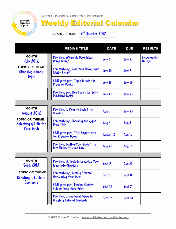 Calendar Of events Template Word Fresh Editorial Calendar Template