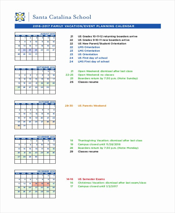 Calendar Of events Template Word Fresh event Calendar Templates 9 Free Word Pdf format