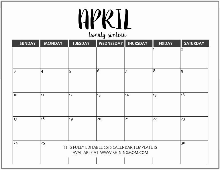 Calendar Of events Template Word Fresh Just In Fully Editable 2016 Calendar Templates In Ms Word