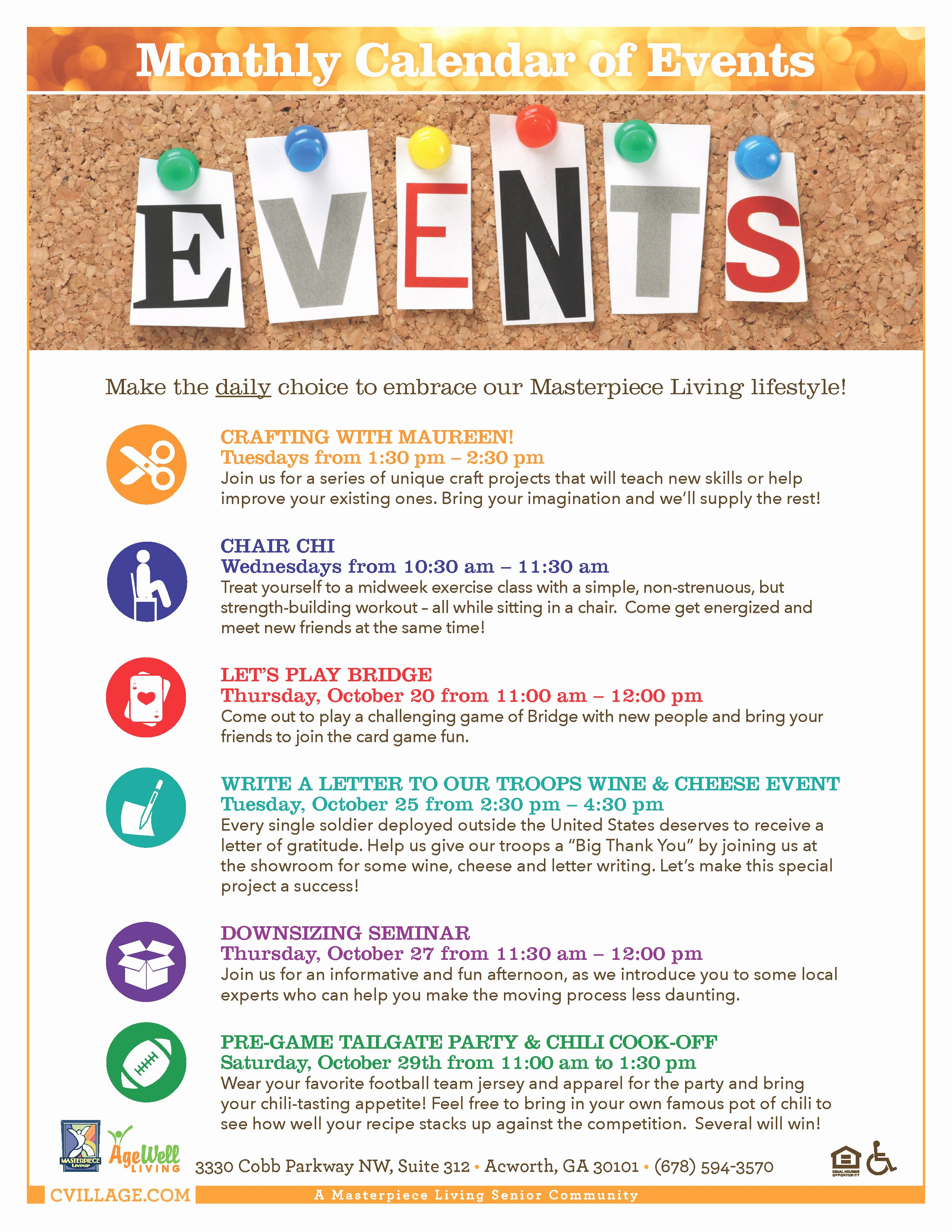 Calendar Of events Template Word New Celebration Village Write A Letter to Our Troops Campaign