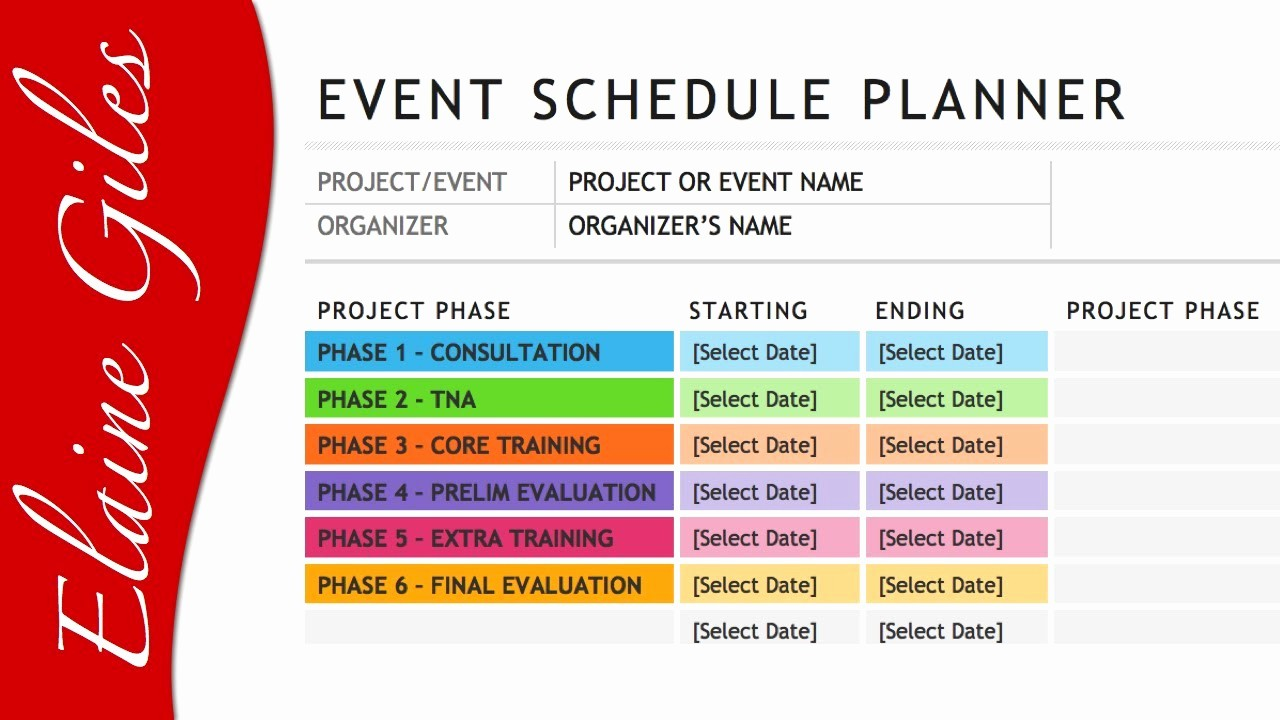 Calendar Of events Template Word New Microsoft Word 2013 Schedule Template
