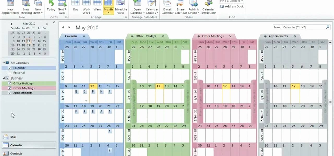 Calendar On Microsoft Word 2010 Awesome How to Create and Use Multiple Calendars In Microsoft