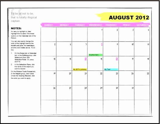 Calendar On Microsoft Word 2010 Best Of Beautiful Microsoft Word 2010 Calendar Template