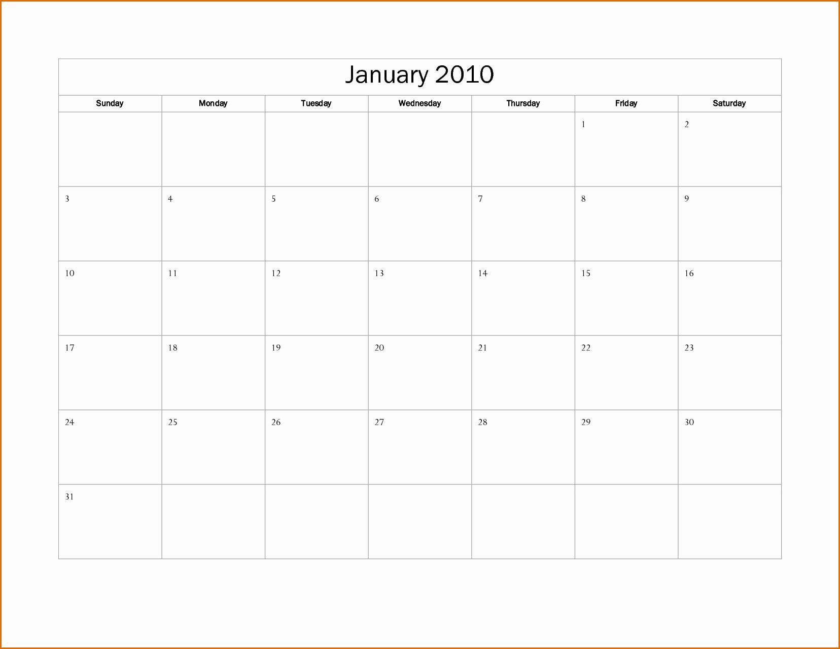 Calendar On Microsoft Word 2010 Fresh 13 Calendar Template Microsoft Word