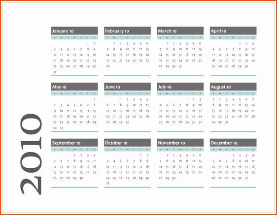 Calendar On Microsoft Word 2010 Fresh 6 Microsoft Office Calendar Templates Bookletemplate