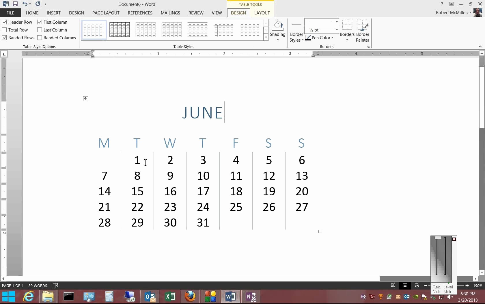 Calendar On Microsoft Word 2010 Lovely How to Make A Calendar Template Microsoft Word 2010