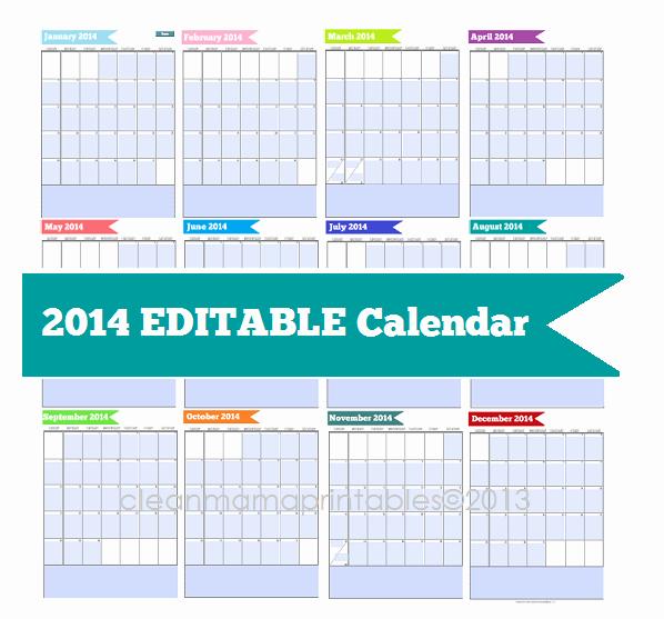 Calendar On Microsoft Word 2010 Luxury 8 Best Of 2014 Printable Calendar Editable