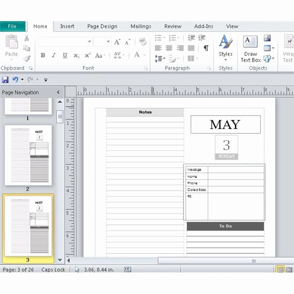 Calendar On Microsoft Word 2010 Luxury Day Planner Template Word 2010
