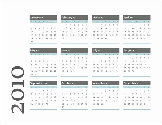 Calendar On Microsoft Word 2010 New Best S Of Microsoft Fice Calendar Templates