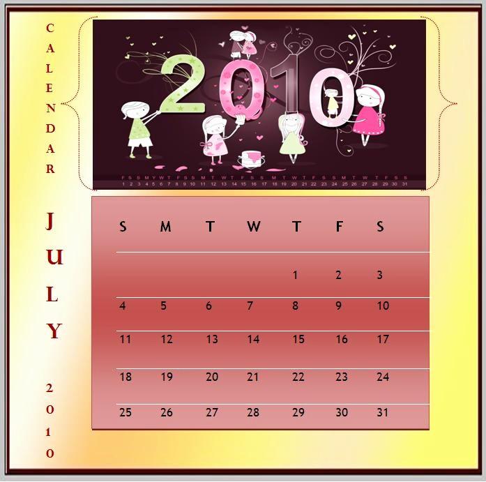 Calendar On Microsoft Word 2010 Unique 2010 Calendar