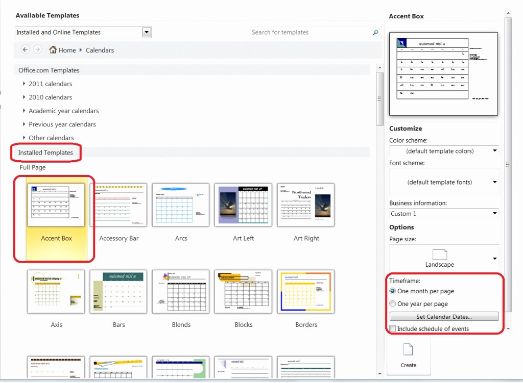 Calendar On Microsoft Word 2010 Unique Ideas Personalize A Calendar for New Year In Publisher