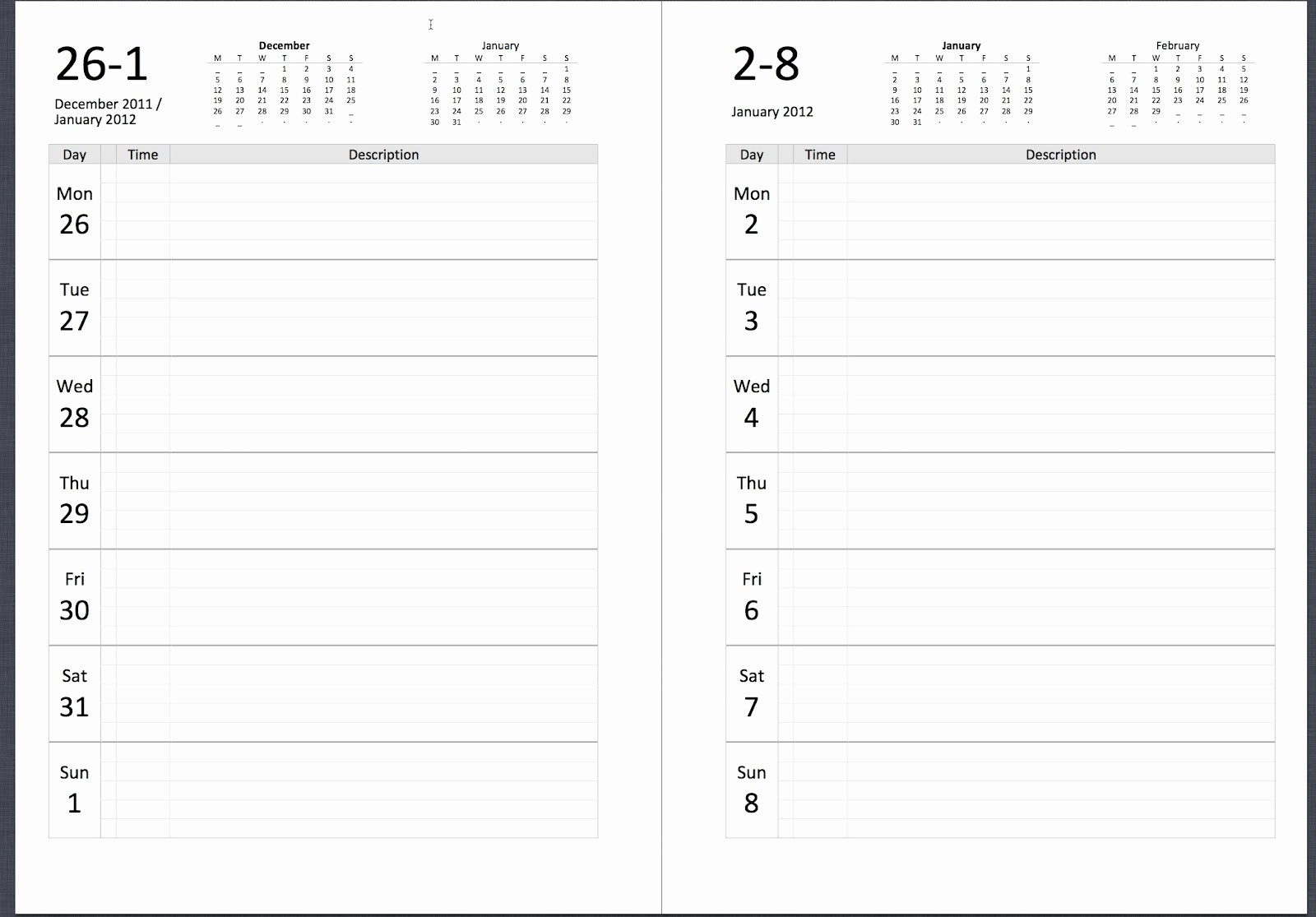 Calendar One Day Per Page Awesome Philofaxy Diary Inserts for 2019