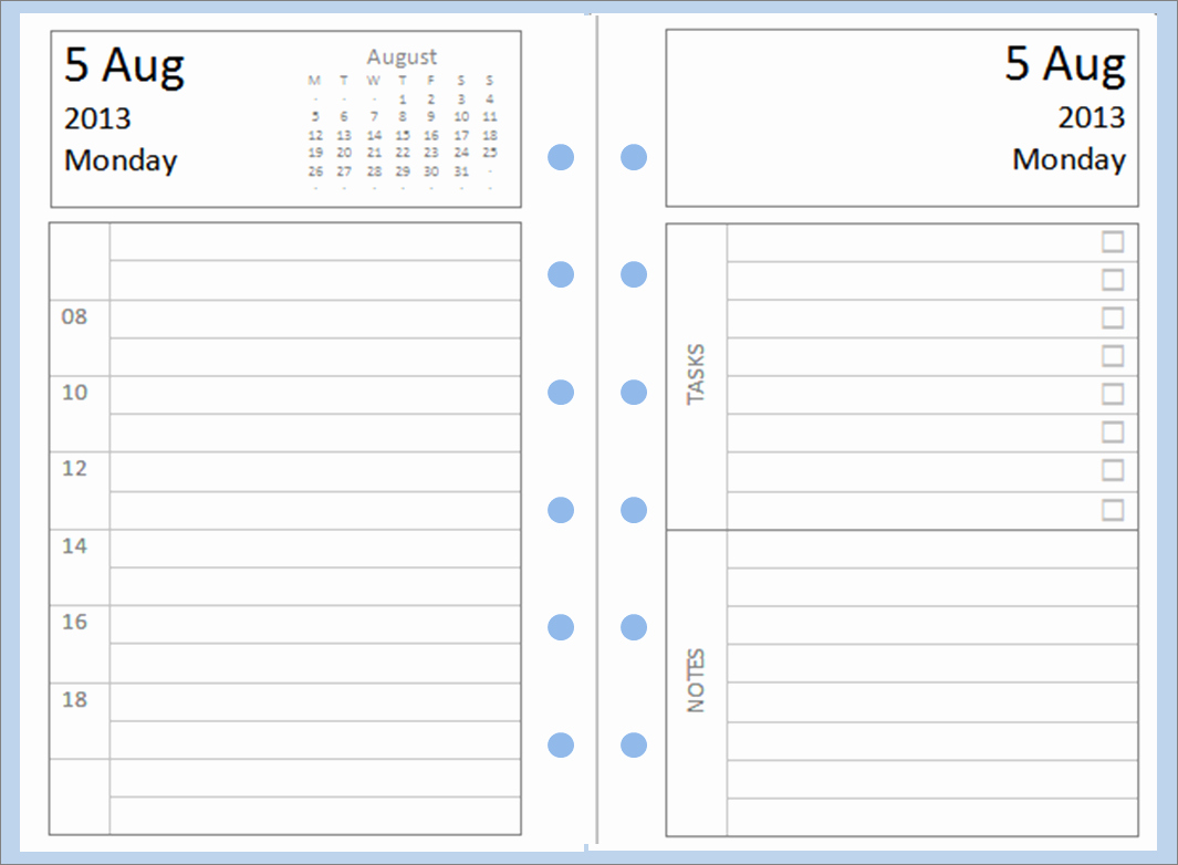 Calendar One Day Per Page Elegant 9 Best Of Filofax Printable Pages Printable Diary