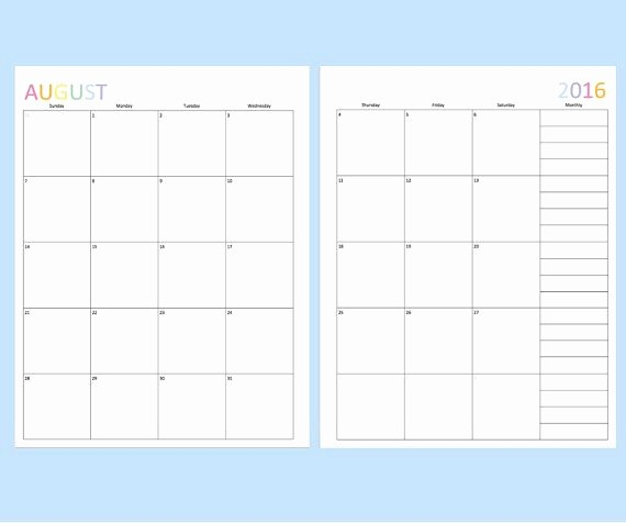 Calendar One Day Per Page Luxury 78 Best Ideas About Monthly Calendars On Pinterest