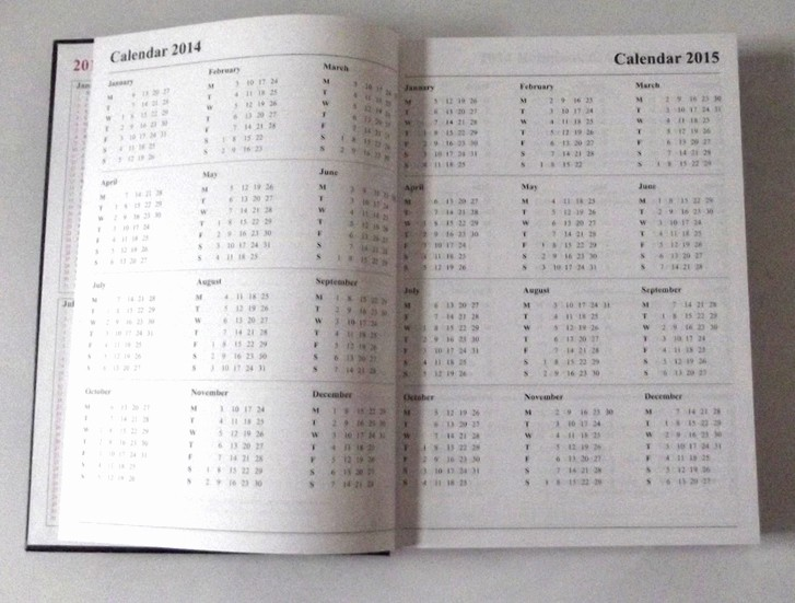Calendar One Day Per Page New 2 Pages Per Day Diary 2015