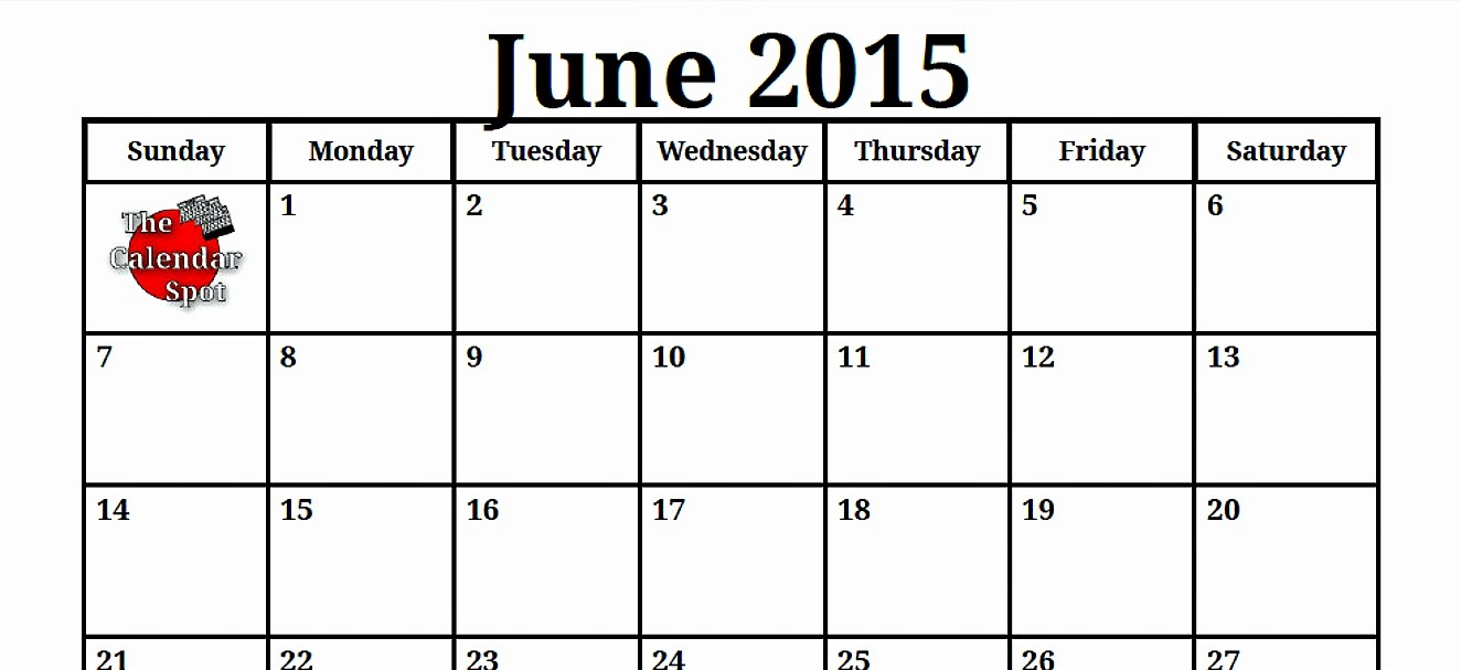 Calendar Template for June 2015 Elegant June 2015 Driverlayer Search Engine