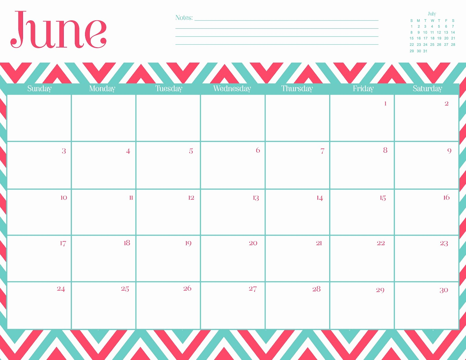 Calendar Template for June 2015 Fresh 8 Best Of Cute Printable Calendars June 2015 Cute