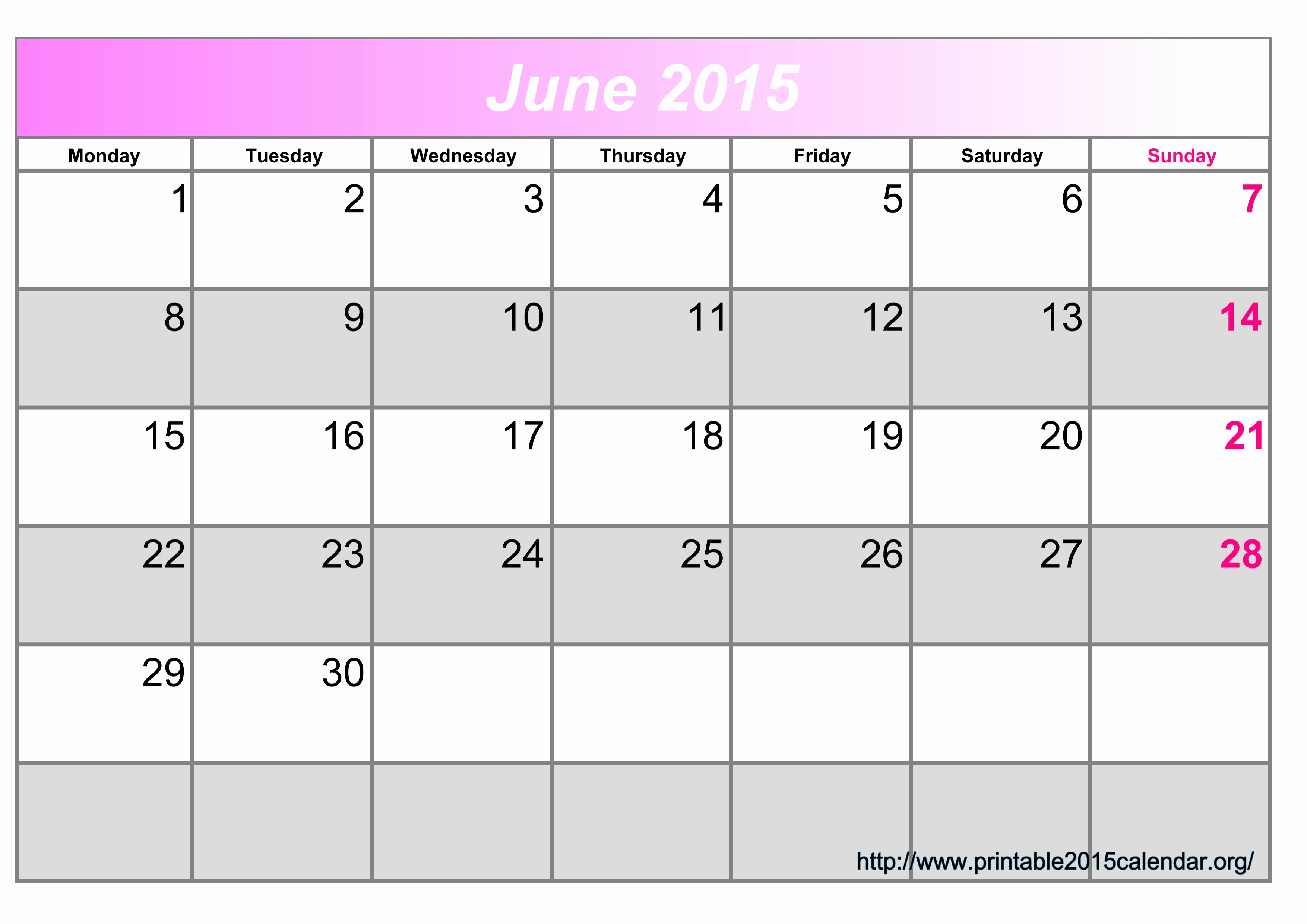 Calendar Template for June 2015 Fresh 8 Best Of Printable June 2015 Calendar March 2015