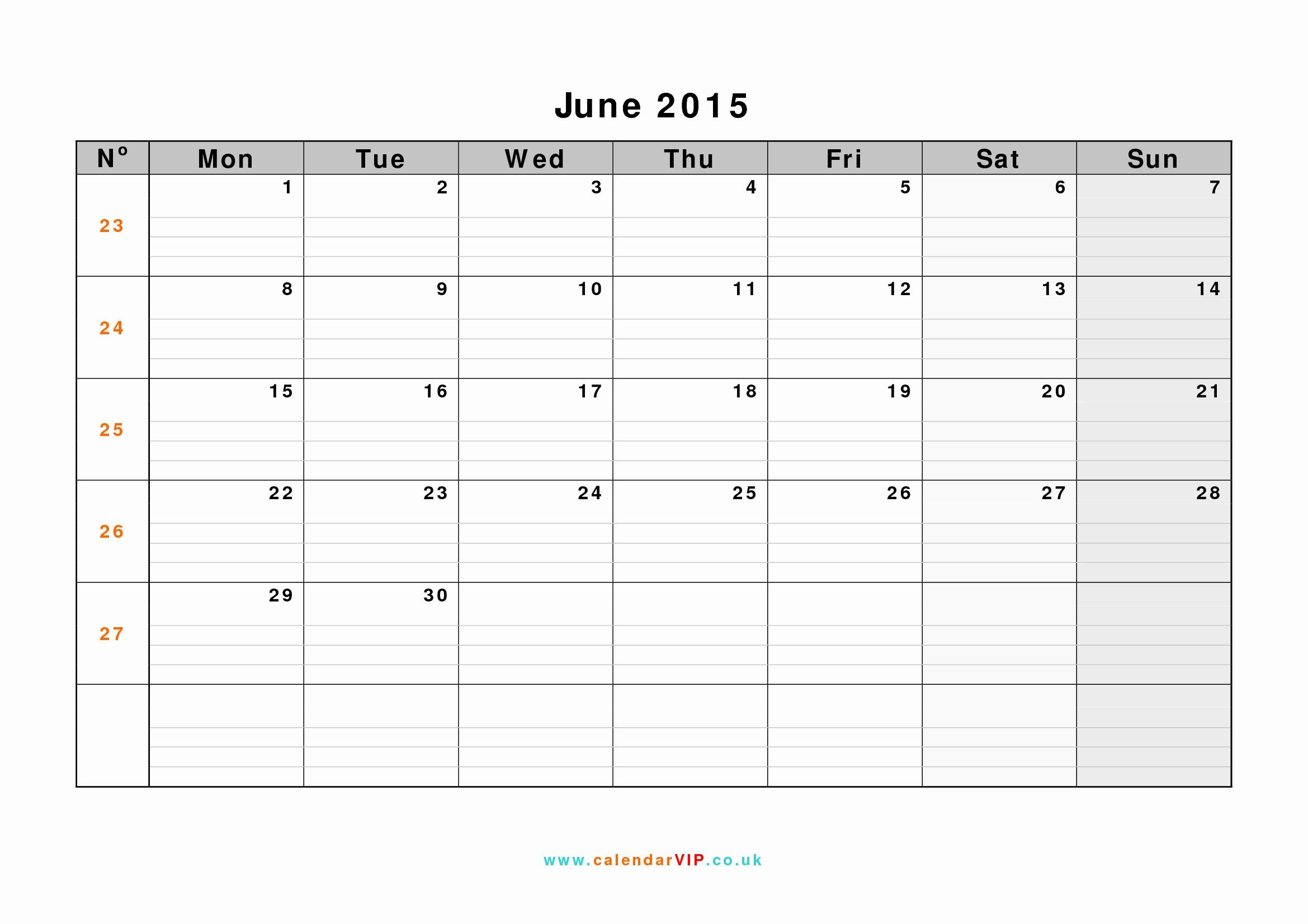 Calendar Template for June 2015 Fresh June 2015 Calendar Free Monthly Calendar Templates for Uk