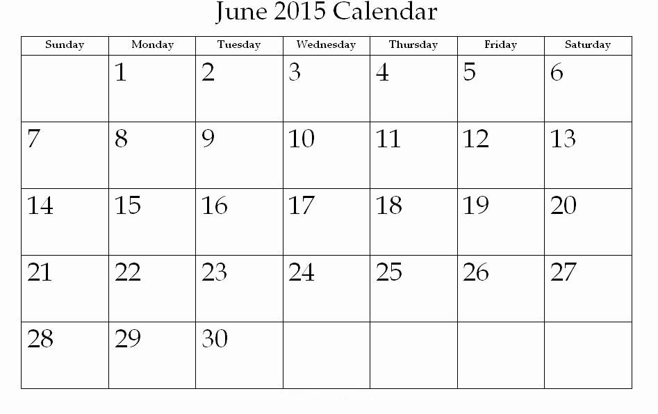 Calendar Template for June 2015 Inspirational 2015 Calendar Printable E Page