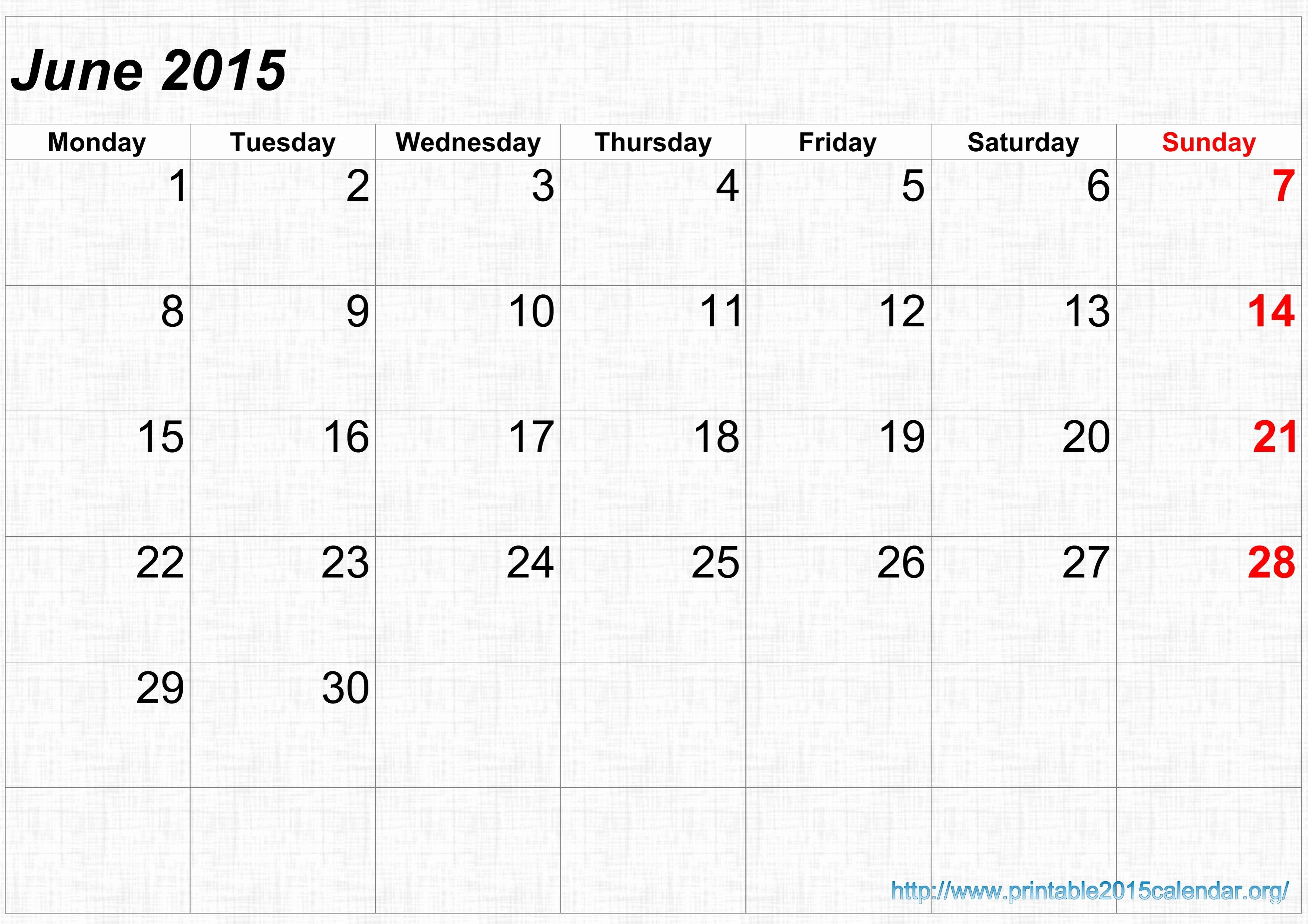 Calendar Template for June 2015 Lovely 7 Best Of June July 2015 Calendar Printable June