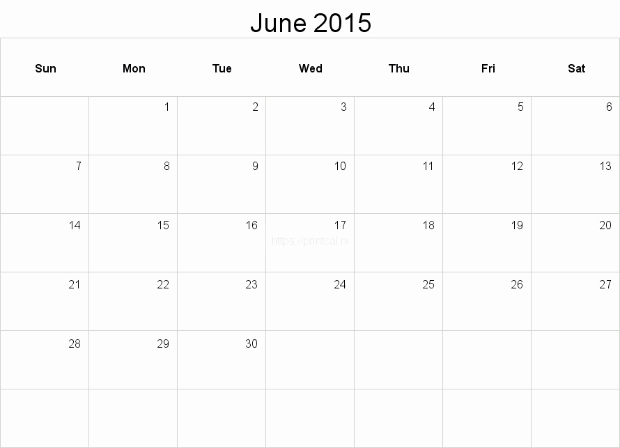 Calendar Template for June 2015 Luxury Printable June 2015 Calendar Template 2 Full Page