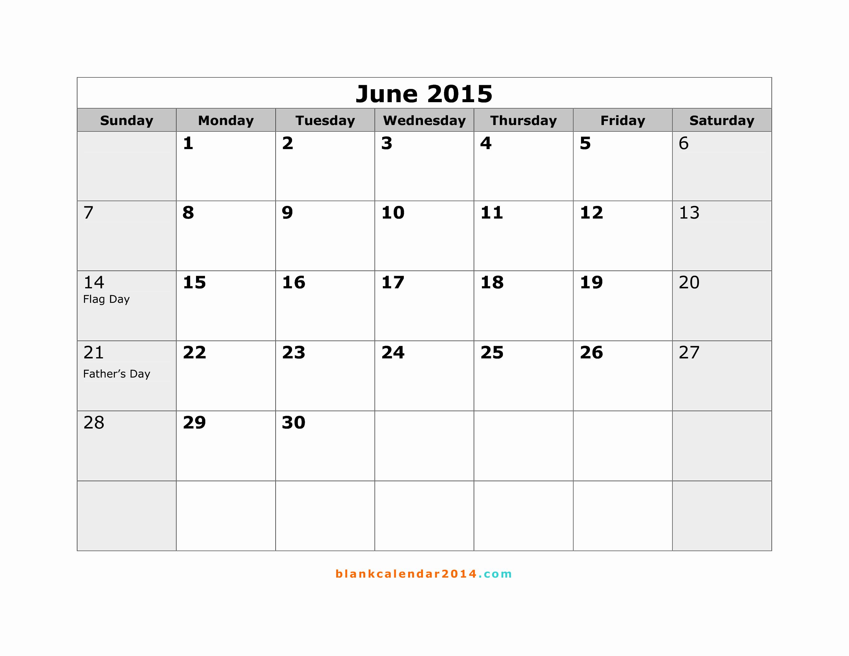 Calendar Template for June 2015 New 6 Best Of June Calendar Printable April 2015