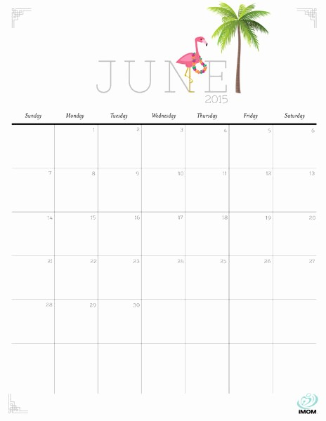 "Calendar Template for June 2015 New Search Results for ""cute Printable June 2015 Calendar"