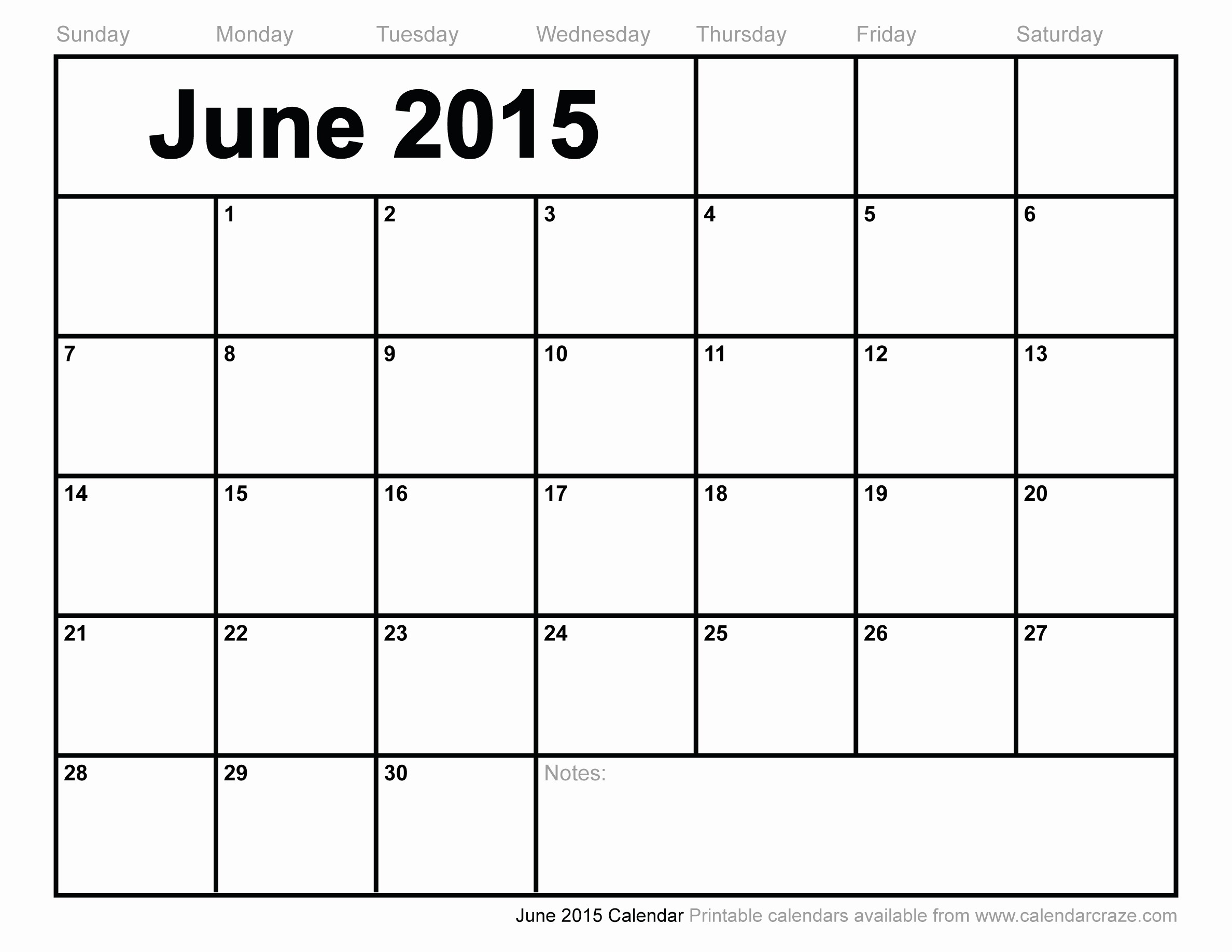 Calendar Template for June 2015 Unique 8 Best Of Printable June 2015 Calendar March 2015