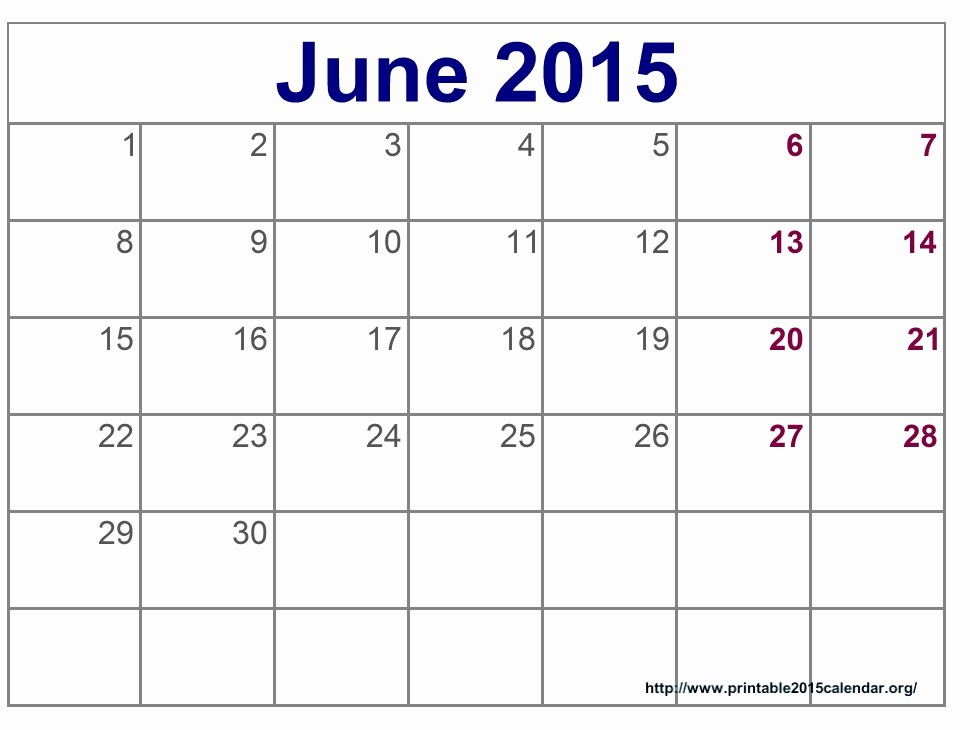 Calendar Template for June 2015 Unique 8 Best Of Printable June 2015 Calendar March 2015