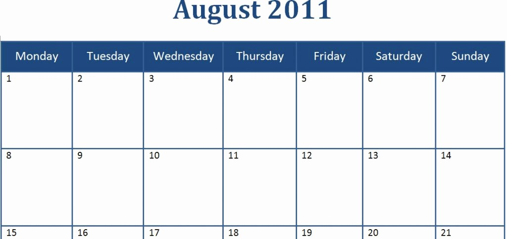 Calendar Template for Ms Word Awesome Microsoft Word 2014 Monthly Calendar Template