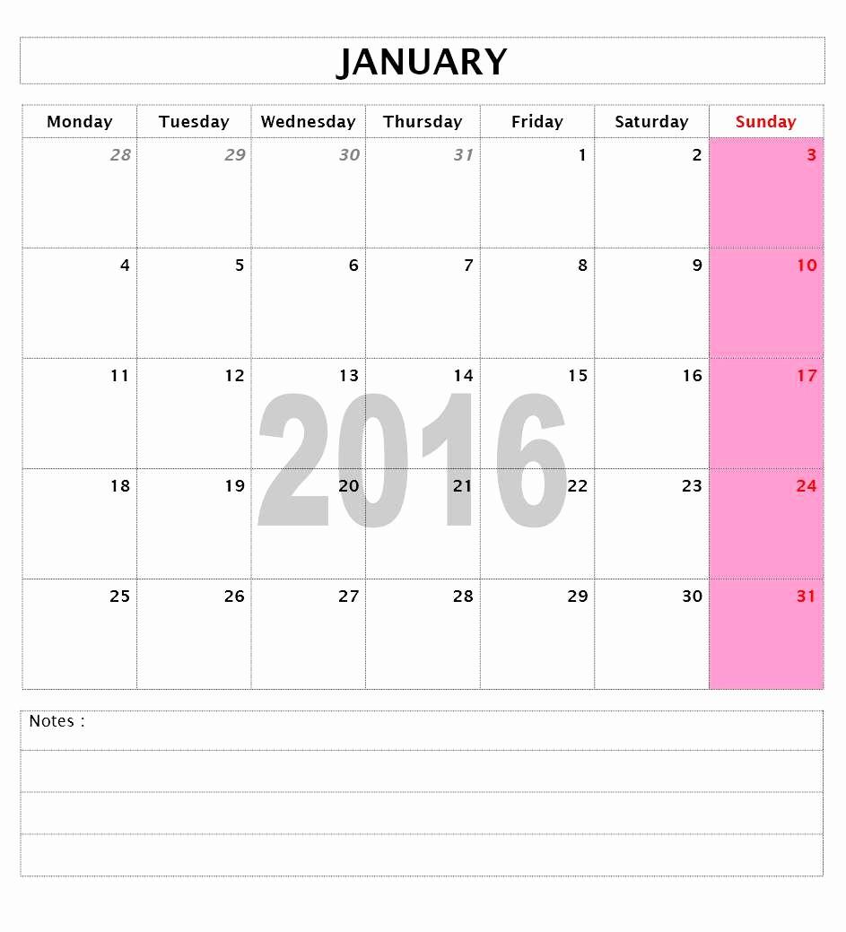 Calendar Template for Ms Word Best Of 2016 Calendar Templates