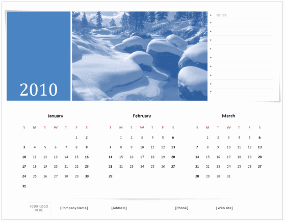 Calendar Template for Ms Word Best Of Download 2010 Calendar Templates for Microsoft Fice 2007