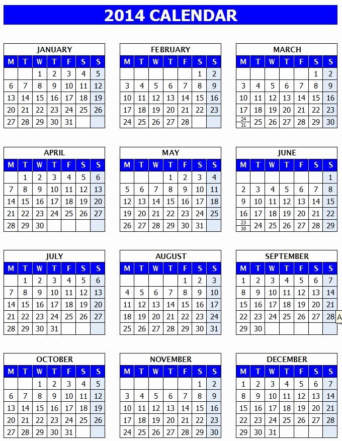 Calendar Template for Ms Word Luxury Microsoft Word Calendar Template 2014