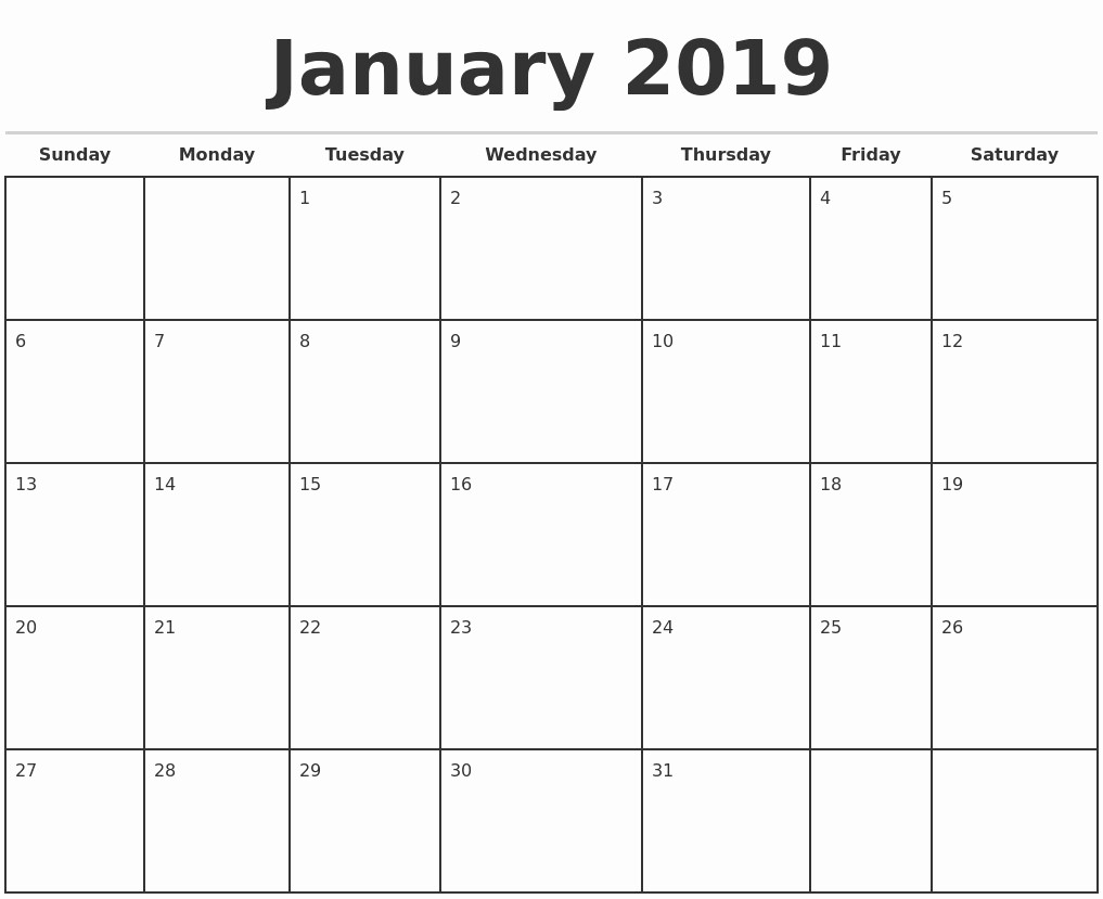 Calendar Template for Ms Word Unique Microsoft Word Printable Calendar 2019 2019 Monthly