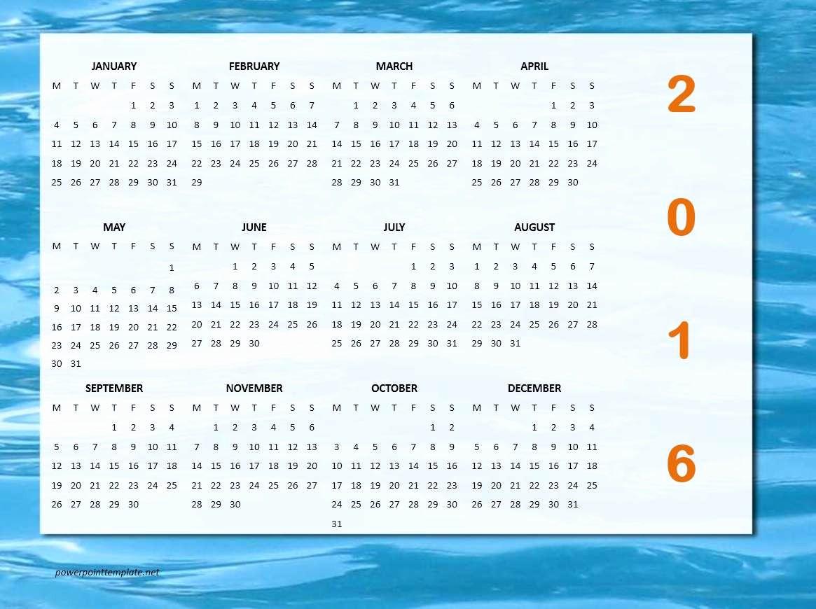 Calendar Templates for Microsoft Word Awesome 2016 Calendar Templates