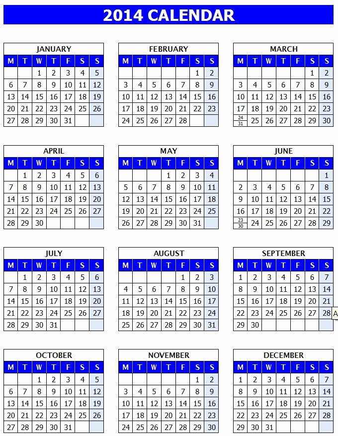 Calendar Templates for Microsoft Word Best Of Microsoft Word Calendar Template 2014